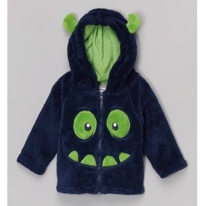 Baby Toddler Hooded Sherpa Monster Face Jacket